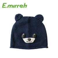 Cartoon dogs handmade knit hats kids cute beanie hats baby clothes accessory