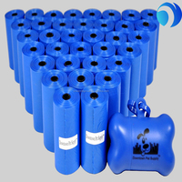 cheap blue dog poop bags in rolls wholesale hogh quality