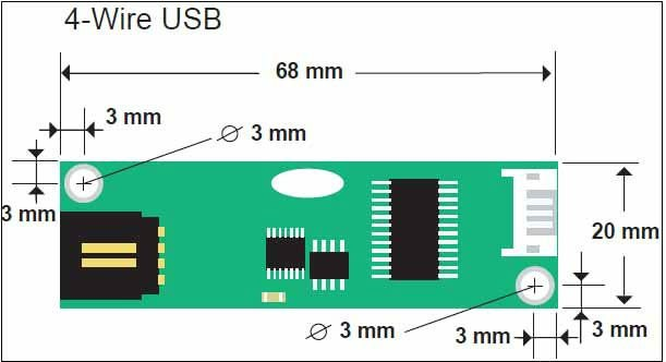 15 인치 4시 와이어 저항 터치 패널 산업 사용을위한/ 제어