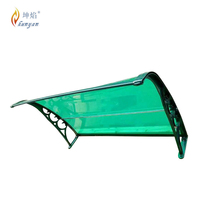 colorful sunshade polycarbonate window roof awnings