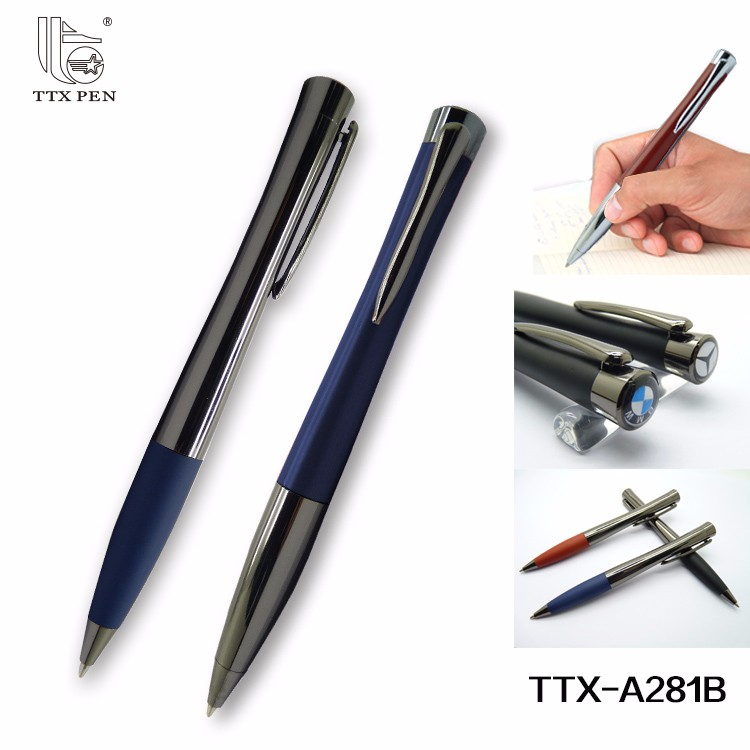 2018 new High Quality Twist Action Thick Heavy Metal Ball Point Pen