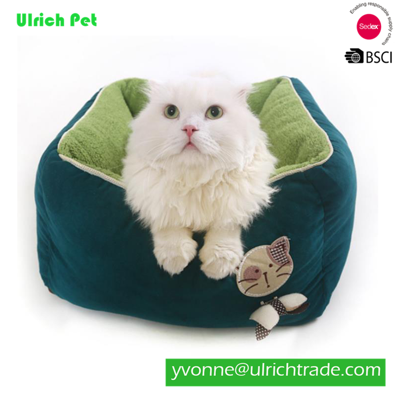 2018 New Small Soft Plush Cat Kitten Dog Puppy Pet Bed With Removable Cushion
