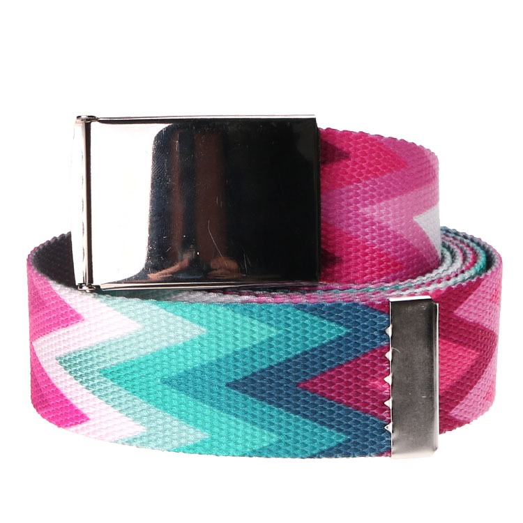 OEM Fashion Printing polyester fabric sublimation logo belts