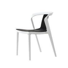 Modern arm high back hotel plastic dining chair
