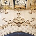 custom Arabic majlis flooring waterjet tile marble medallion designs for sale