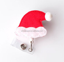 Alibaba New Arrival Christmas Hat Name ID Badge Reel Holder