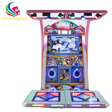 Wholesale two players coin operated arcade music dance simulator drum dancing game machine