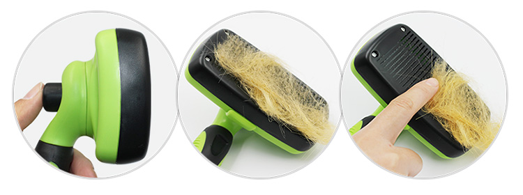 Pet groomer grooming hair removal self cleaning slicker brush for dogs and cats