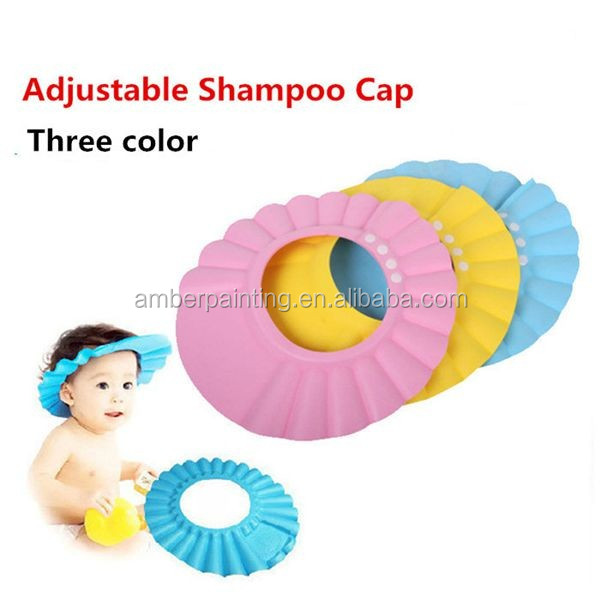 High quality potective baby shower cap / baby bath shampoo cap