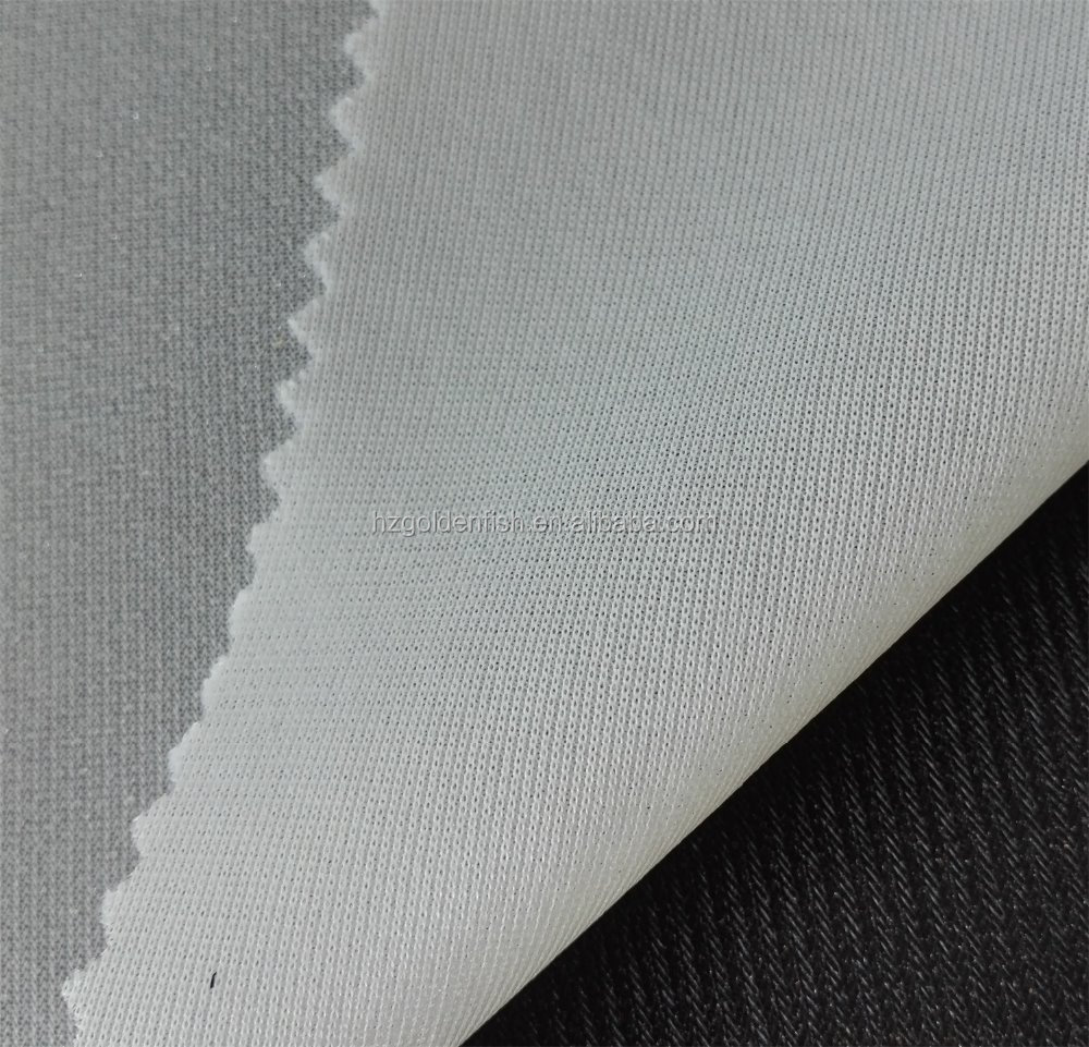 Shirt Collar Cotton Fusible Interlining Fabric With Hdpe Coating