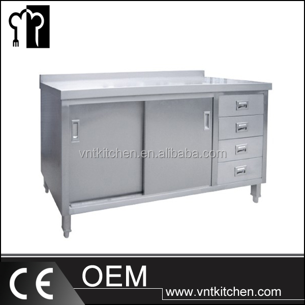 VNTS029 Heavy Duty Restaurant Kitchen Stainless Steel Worktable with Drawers/Workshop Worktable