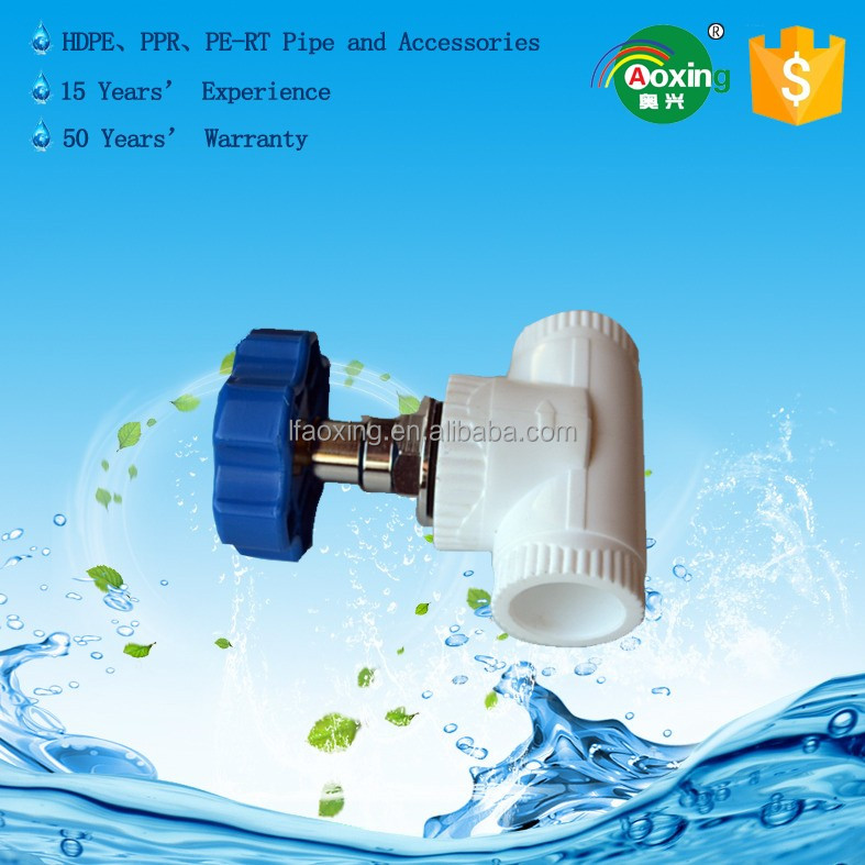 Environmental protection polypropylene pipe PPR pipe fittings stop valve