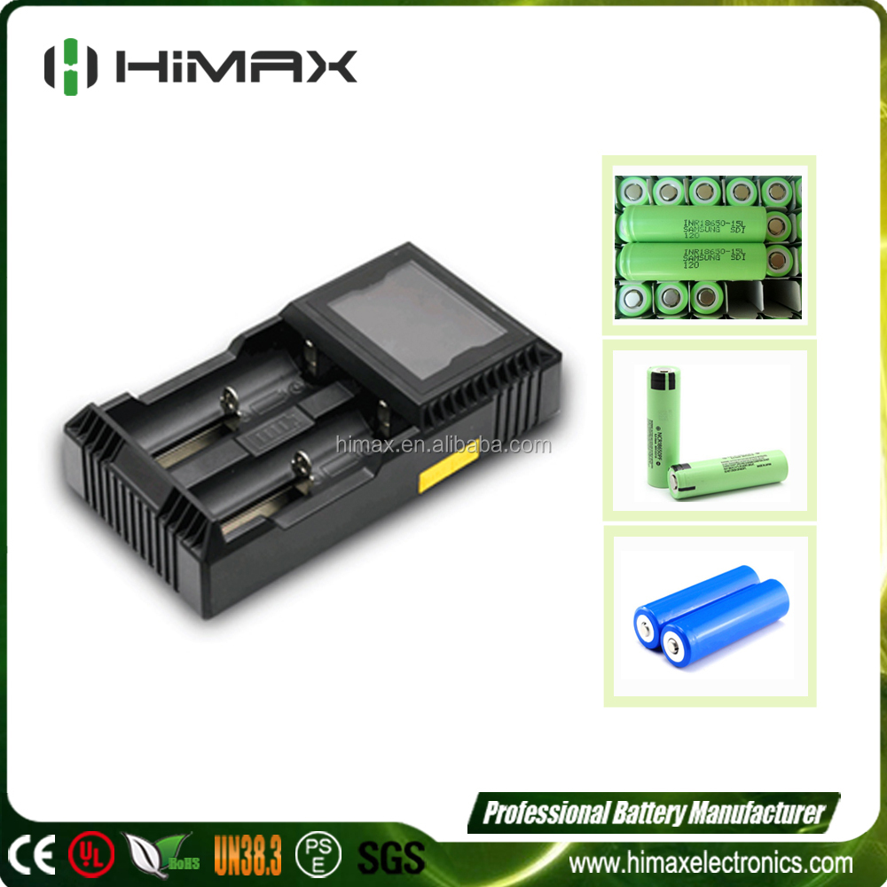 Universal 2Slot MH Lion LiFePO4 18650 RCR123A 22650 Battery Charger