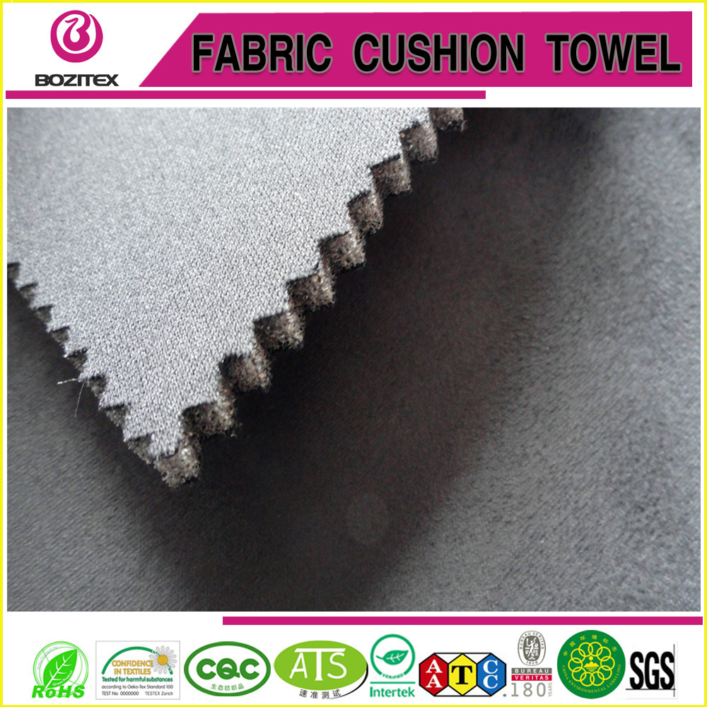 suede interlocked foam and knitting fabric