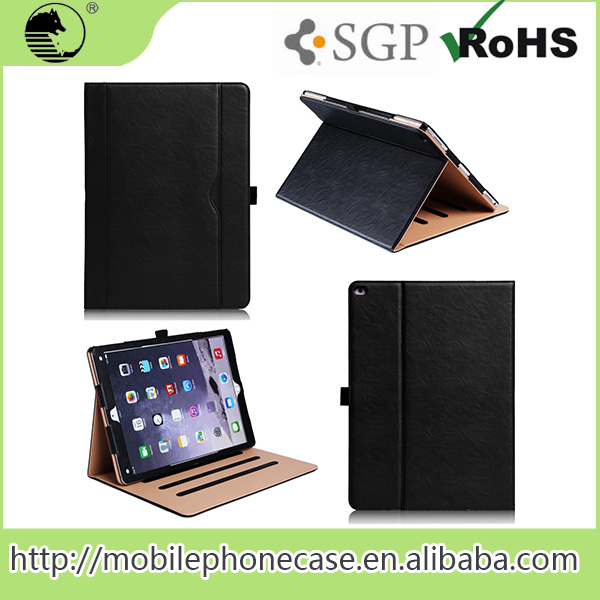 Hot Selling New Accessory Custom Display Design PU Tablet Flip Cover Case For Ipad Pro 12.9