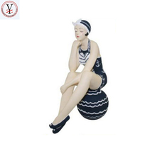 Factory Custom made best home decoration gift polyresin resin bathing beauties figurines