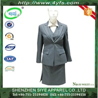Top Quality Anti- Wrinkle High Quality Women's Business Suits /Women Suit Fabric of Wool/Polyster