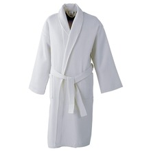 Wholesale Shawl Collar Velvet White Egyptian girls cotton bathrobes sale Terry Cotton Bathrobe