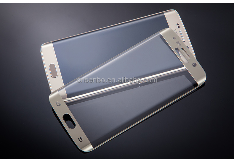 Trade assurance Service !! Full Cover 3D Curved 9H tempered glass for samsung galaxy s6 edge plus
