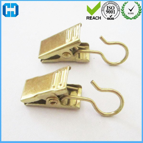 Manufacturer Fashion Bulk Gold Shower Curtain Clip Hooks From China
