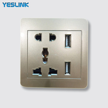 Socket Manufacture Euro Style 220V USB Weatherproof Power Wall Outlet Socket With 2 USB port