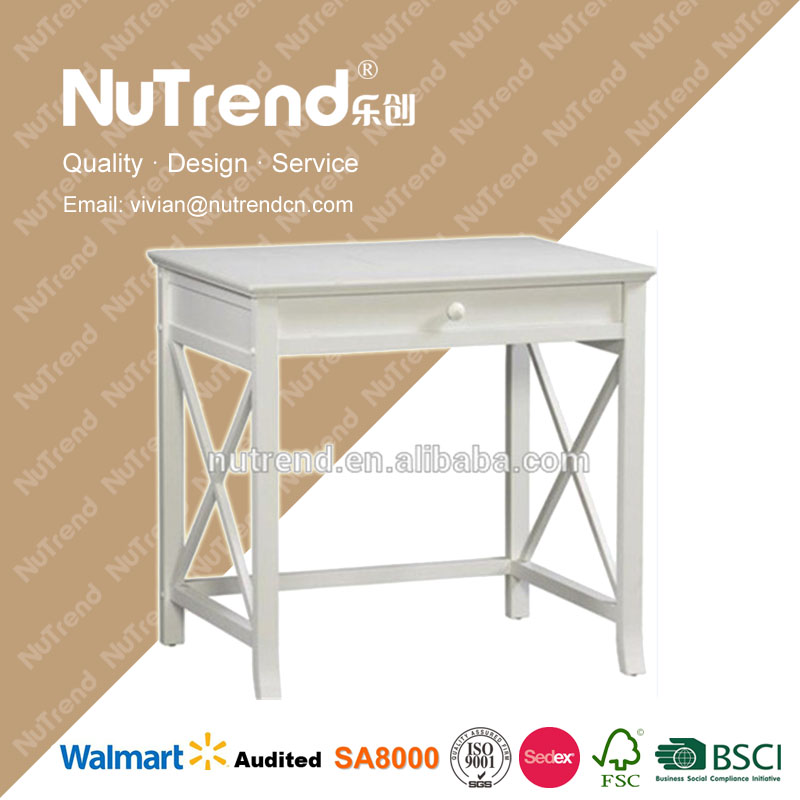 New type student office desk modern with wide drawer and X-shape decoration