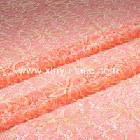 China supplier Fashion style velvet lace fabric