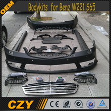 PP Auto Body kits W221 S65 Body kit for M ercedes B enz 09
