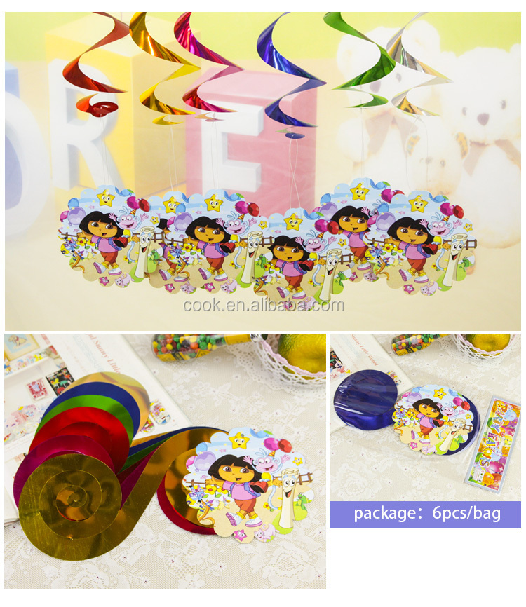 Fashion cars swirl decoration kid paper party favors view for Paper swirl decorations