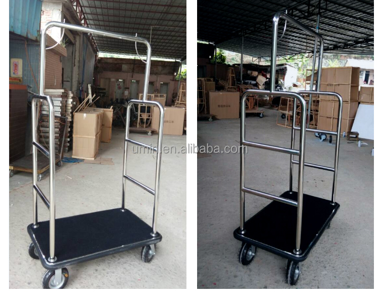 Vintage Hotel Luggage Cart with Wheels