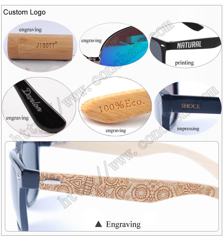 luxury design hand polished eco-friendly bamboo sun eyeglasses case ...