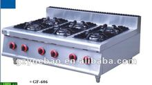 Commercial table top kitchen gas burner with 6 burners