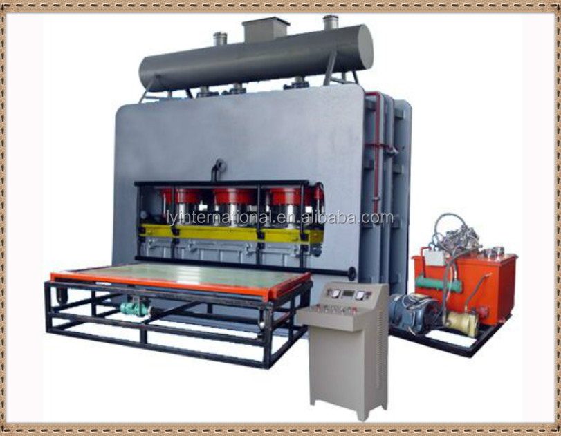 High quality and low cost short cycle lamination hot press/board hot press machine/mesin hot press