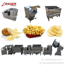 Frozen Potato French Fries Production Line Making Machines To Make Potato Chips