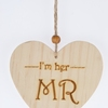 Wooden Hearts Ornaments Natural Wood Heart