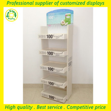 2016 products 5 tiers high quality free standing wood display for coconut water