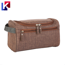 Waterproof polyester toiletry travel case with hanging hook storage bag