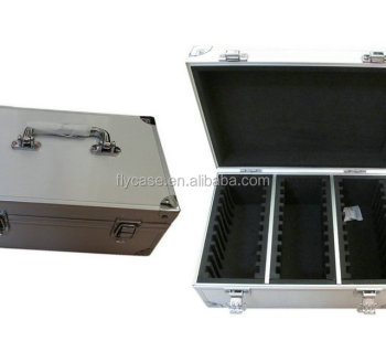 white box packaging boxes aluminum 25pcgs coin case with acrylic top