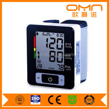 Portable Wristband Blood Pressure Electronic Intelligent Monitors Auto Heart Rate Detection Meter With Memory Time and Date