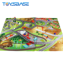 Juguetes Toy New Traffic Gym With Car Toy PVC Baby Play Mat