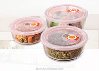 700ml Round leak-proof glass food container with plastic lid