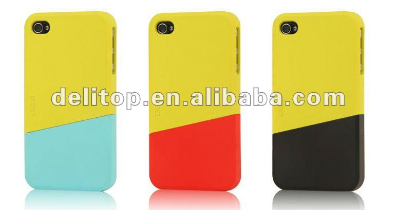 Novel Independent combination color cases for iphone 4 4S