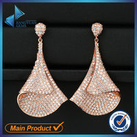 wedding style silver plated earrings jewelry with cz