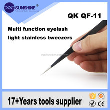 Quick Brand Practical Multi Function Eyelash Light Stainless Tweezers QF-11
