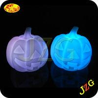 2015 halloween decoration plastic pumpkin flashing led light Halloween artificial white pumpkin