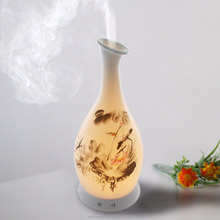 100ML Ceramic Aromatherapy Essential Oil Diffuser with Soothing LED Light,Help You Having a Deep Sleep- Perfect for Home