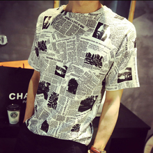 Custom Sublimation Digital Printed T Shirt Men Fashion Round Neck Short Sleeve Cotton Tee