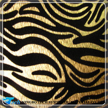 2015 animal print zebra pattern flocking pu leather for shoes and bags(zebra cuero sinteticos)