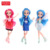 Zhorya 12 inch fashion dresses clothes color hair 3d eye doll toy playset with magic stick accessory