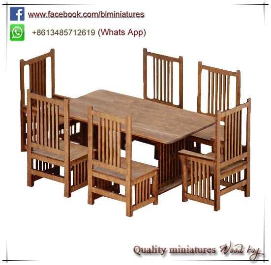 1:12 Two Mission Style Dining Side Chair Kits Miniature Furniture For Childrens Dolls House
